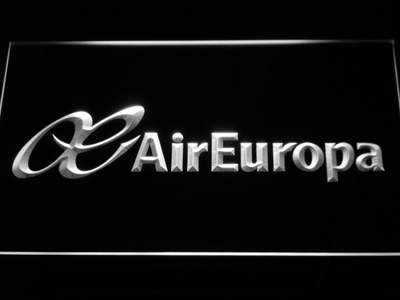 Air Europa LED Neon Sign - White - SafeSpecial