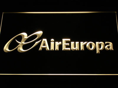 Air Europa LED Neon Sign - Yellow - SafeSpecial