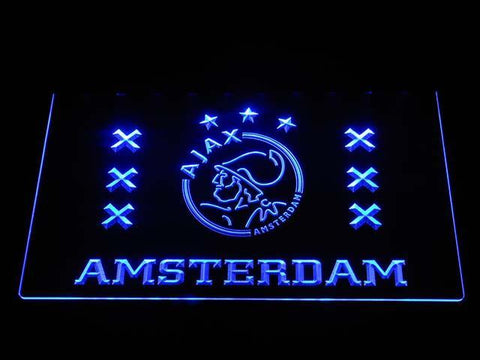 Ajax Logo 2 LED Neon Sign - Blue - SafeSpecial