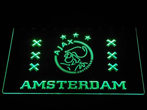 Ajax Logo 2 LED Neon Sign - Green - SafeSpecial