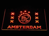 Ajax Logo 2 LED Neon Sign - Orange - SafeSpecial