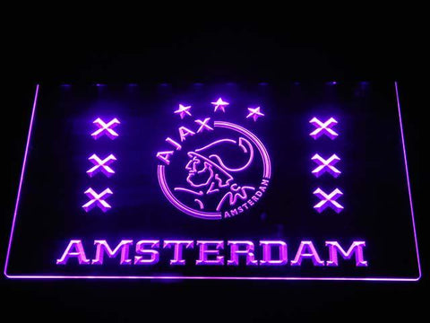 Ajax Logo 2 LED Neon Sign - Purple - SafeSpecial
