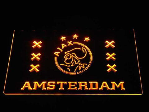Ajax Logo 2 LED Neon Sign - Yellow - SafeSpecial