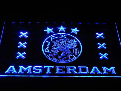 Image of Ajax Logo LED Neon Sign - Blue - SafeSpecial