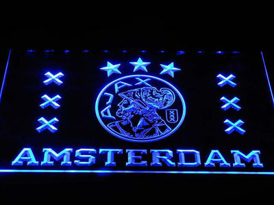 Ajax Logo LED Neon Sign - Blue - SafeSpecial
