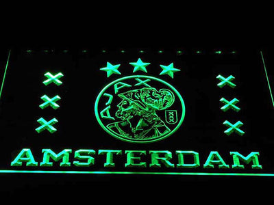 Ajax Logo LED Neon Sign - Green - SafeSpecial