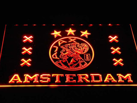 Image of Ajax Logo LED Neon Sign - Orange - SafeSpecial