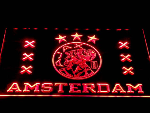 Image of Ajax Logo LED Neon Sign - Red - SafeSpecial