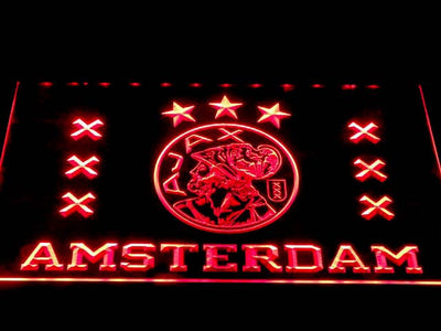 Ajax Logo LED Neon Sign - Red - SafeSpecial