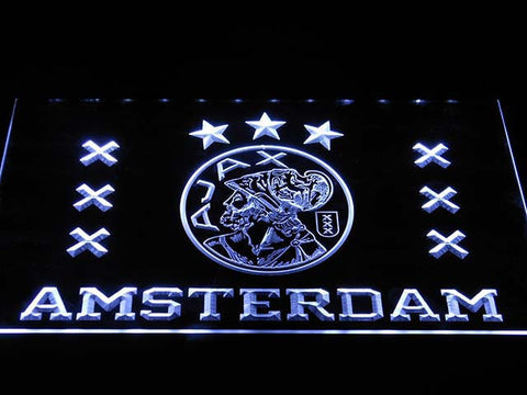 Image of Ajax Logo LED Neon Sign - White - SafeSpecial