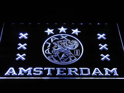 Ajax Logo LED Neon Sign - White - SafeSpecial