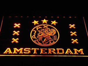 Ajax Logo LED Neon Sign - Yellow - SafeSpecial