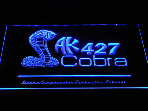 AK 427 Cobra LED Neon Sign - Blue - SafeSpecial