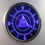 Alcoholics Anonymous AA LED Neon Wall Clock - Blue - SafeSpecial