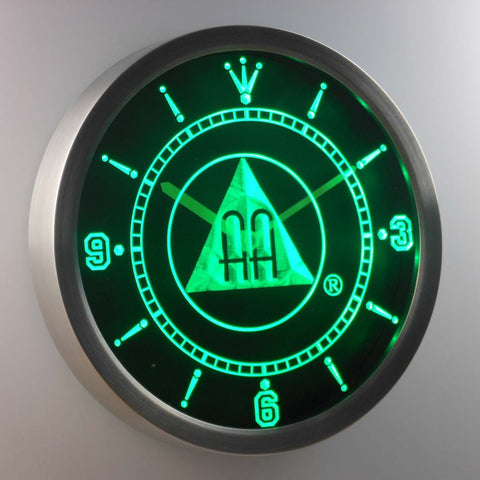 Image of Alcoholics Anonymous AA LED Neon Wall Clock - Green - SafeSpecial