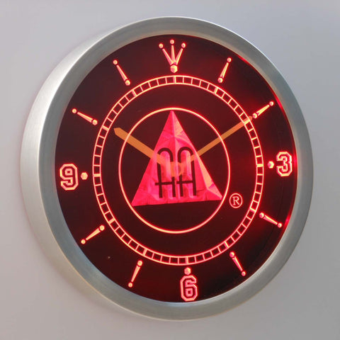 Image of Alcoholics Anonymous AA LED Neon Wall Clock - Red - SafeSpecial