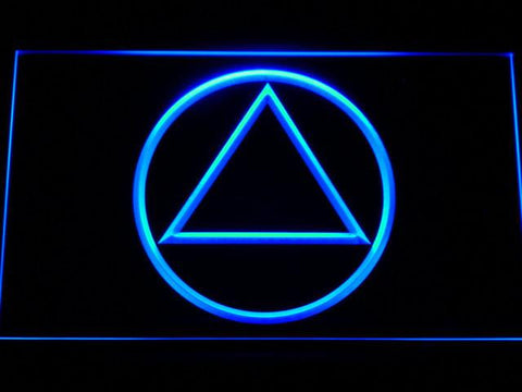 Image of Alcoholics Anonymous LED Neon Sign - Blue - SafeSpecial