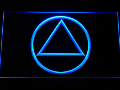 Alcoholics Anonymous LED Neon Sign - Blue - SafeSpecial
