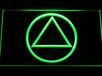 Alcoholics Anonymous LED Neon Sign - Green - SafeSpecial