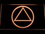 Alcoholics Anonymous LED Neon Sign - Orange - SafeSpecial