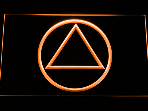 Image of Alcoholics Anonymous LED Neon Sign - Orange - SafeSpecial
