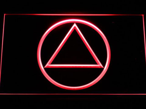Image of Alcoholics Anonymous LED Neon Sign - Red - SafeSpecial