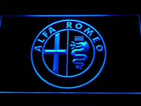 Image of Alfa Romeo LED Neon Sign - Blue - SafeSpecial