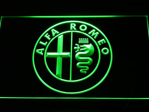 Image of Alfa Romeo LED Neon Sign - Green - SafeSpecial