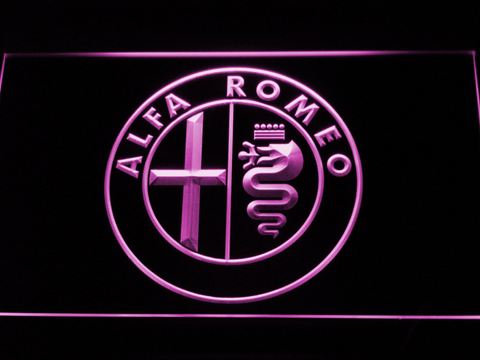 Alfa Romeo LED Neon Sign - Purple - SafeSpecial