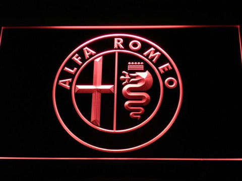 Image of Alfa Romeo LED Neon Sign - Red - SafeSpecial