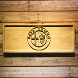 Alfa Romeo Wooden Sign - Small - SafeSpecial