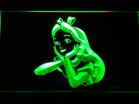 Image of Alice in Wonderland Alice LED Neon Sign - Green - SafeSpecial