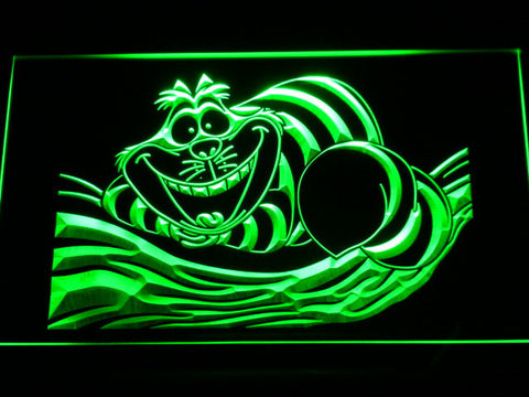 Image of Alice in Wonderland Cheshire Cat LED Neon Sign - Green - SafeSpecial