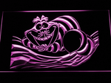 Alice in Wonderland Cheshire Cat LED Neon Sign - Purple - SafeSpecial