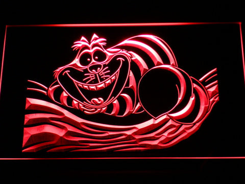 Image of Alice in Wonderland Cheshire Cat LED Neon Sign - Red - SafeSpecial