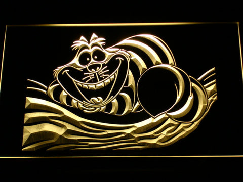 Image of Alice in Wonderland Cheshire Cat LED Neon Sign - Yellow - SafeSpecial