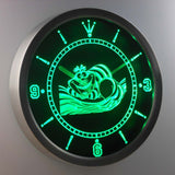 Alice in Wonderland Cheshire Cat LED Neon Wall Clock - Green - SafeSpecial