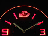 Alice in Wonderland Cheshire Cat Modern LED Neon Wall Clock - Red - SafeSpecial