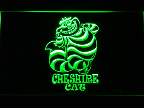 Image of Alice in Wonderland Cheshire Cat Standing LED Neon Sign - Green - SafeSpecial