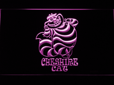 Alice in Wonderland Cheshire Cat Standing LED Neon Sign - Purple - SafeSpecial