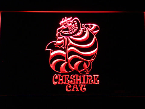 Image of Alice in Wonderland Cheshire Cat Standing LED Neon Sign - Red - SafeSpecial