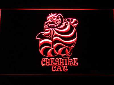Alice in Wonderland Cheshire Cat Standing LED Neon Sign - Red - SafeSpecial