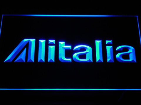 Image of Alitalia LED Neon Sign - Blue - SafeSpecial