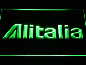 Alitalia LED Neon Sign - Green - SafeSpecial