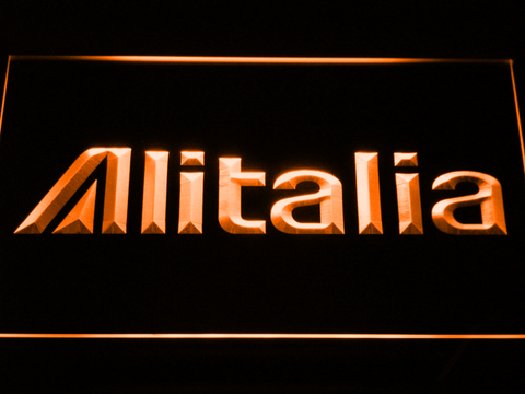 Image of Alitalia LED Neon Sign - Orange - SafeSpecial