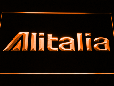 Alitalia LED Neon Sign - Orange - SafeSpecial