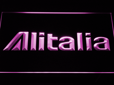 Alitalia LED Neon Sign - Purple - SafeSpecial