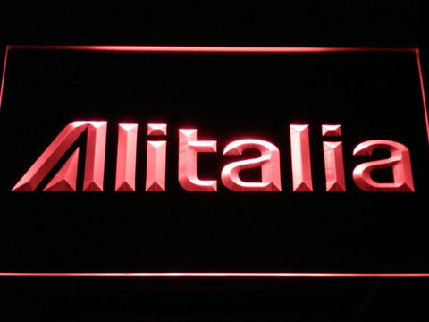Image of Alitalia LED Neon Sign - Red - SafeSpecial