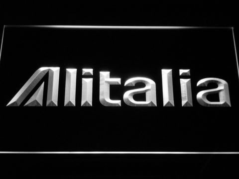 Image of Alitalia LED Neon Sign - White - SafeSpecial
