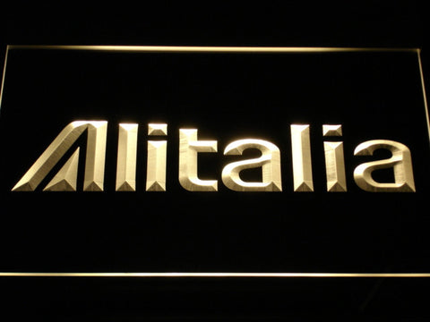Image of Alitalia LED Neon Sign - Yellow - SafeSpecial